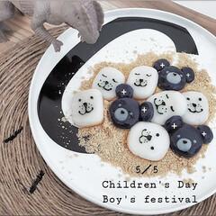 キャラごはん/おうちカフェごはん/令和の一枚/GW/至福のひととき/おやつタイム/... こどもの日のおやつ  柏餅の餡が苦手な子…