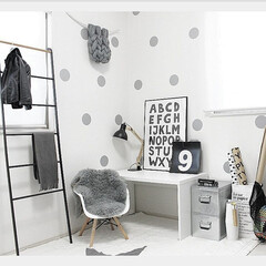 椅子 チェア イス イームズ おしゃれ イームズチェア 木脚 肘掛け 肘置き プロダクトデザイナーズチェア 北欧 PP-620(ダイニングチェア)を使ったクチコミ「キッズルーム♡ 」