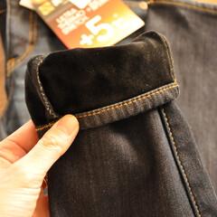 デニム/あたたかい/寒さ対策/しまむら/冬 しまむらで買った、あったかパンツ。 防風…