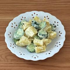 サラダ/お気に入り/食器/お弁当/キッチン/キッチン雑貨/... お気に入りの小皿です。サラダを入れたり、…(2枚目)