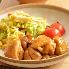 レシピ/おうちごはん/おかず/料理/わたしのごはん わたしのごはん〝鶏肉の照り焼き。〟 大好…