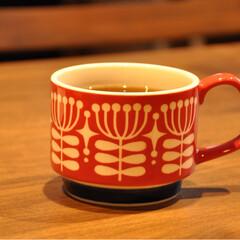 秋の夜長/マグカップ/お気に入り/食器/キッチン/キッチン雑貨 お気に入りのマグカップ。 ストレートティ…