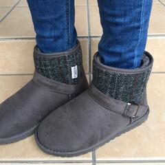 脱ぎ履きしやすい/あたたかい/ムートンブーツ/しまむら購入品/しまむら しまむらで買ったムートンブーツです。 脱…