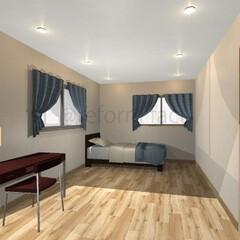 寝室/ダウンライト/リフォーム 寝室にダウンライトをつけたイメージをつく…