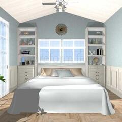 インテリア/コースタルスタイル/寝室/リフォーム コースタルスタイルの寝室をイメージして作…
