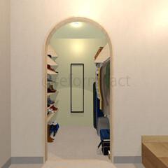 玄関/シューズクローク/リフォーム 玄関シューズクロークのイメージをつくりま…