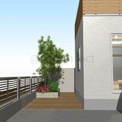 庭/外構/リフォーム 庭の土→コンクリートにするイメージをつく…