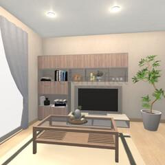 壁面収納/リビング/リフォーム 壁面収納のイメージをつくりました!