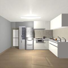 L型キッチン/リフォーム L型キッチンのイメージです(^-^)