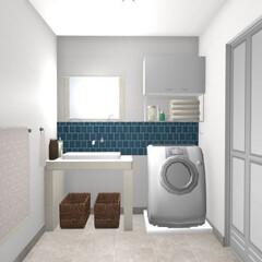 造作洗面台/リフォーム シンプルな造作洗面台のイメージをつくりま…