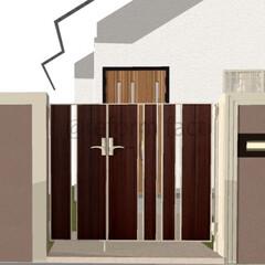 門扉/リフォーム 門扉のイメージをつくりました(^-^)