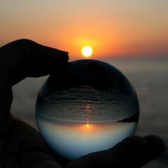 次のコンテストはコレだ!/おすすめアイテム 久しぶりに夕日を撮ってみました~~✨