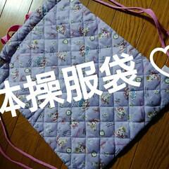 入学準備/西松屋/購入品/キルティング/巾着タイプ/紫/... 体操服袋。学校からの指定はキルティングで…