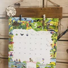 カレンダーフレーム/カレンダーホルダー/カレンダー/令和の一枚/フォロー大歓迎/GW/... 5月1日 カレンダーめくりました。 ピン…