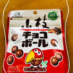 キョロちゃん/小枝/森永/小枝のチョコボール/チョコボールのなかみ 面白いお菓子発見👍  ❤️チョコボールの…(2枚目)