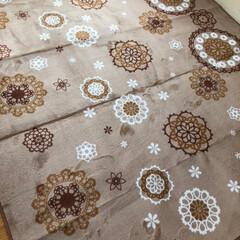 しまむら/こたつ/リミアの冬暮らし/雑貨/フォロー大歓迎 ラグを新しくしました。 しまむら で3畳…