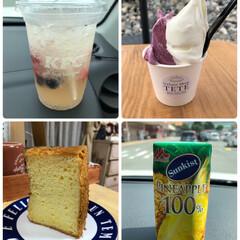 サンキスト パイナップル100%/ベリーレモネードソーダ/ケンタッキー/ジェラート/夏対策/シフォンケーキ 今週、飲んだもの、食べたもの。 暑くて、…