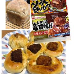 ホームベーカリー/くるみパン/惣菜パン/冷凍食品/暮らし/パン作り 今日もパン🍞 冷食を使った惣菜パン。 焦…