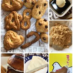 手作りおやつ/バニラアイス/コーヒーゼリー/わらびもち/ハンバーガーバンズ/鳩サブレー/...  作って、食べて、テレビ見てばかりのお盆…