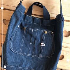 通学バッグ/デニムバッグ/LEE/雑貨/フォロー大歓迎 次男君のお買い物。 Leeのデニムバッグ…