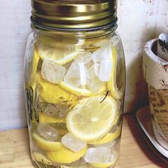 レモンシロップ/簡単/夏対策 シュワシュワ🍋レスカが飲みたくて、 皮も…