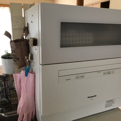 NP-TH3 食器洗い乾燥機 パナソニック NP-TH3-W ホワイト | パナソニック(食器洗い乾燥機)を使ったクチコミ「リビングから丸見えのの食洗機。 板を買っ…」(2枚目)