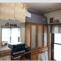 食器棚/ナチュラルインテリア/マグネット/簡単リメイク/リメイクシート/冷蔵庫リメイク/... 冷蔵庫にリメイクシート貼ってます。 引き…(4枚目)