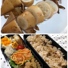 イカ飯/タコ飯/お弁当/夏に向けて/おうちごはん/暮らし イカ飯🦑にタコ🐙飯。  数日前にマロンち…