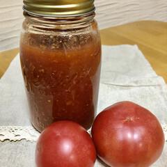 簡単ケチャップ/手作りケチャップ/トマト/ブラウンブレンダー/ブレンダー/簡単/... トマト🍅1.5キロを使って、自家製ケチャ…(1枚目)