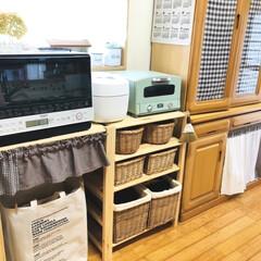 グラファイトトースター(2枚焼き) | アラジン(トースター)を使ったクチコミ「キッチン棚の片付けが終わりました💚 無印…」(1枚目)