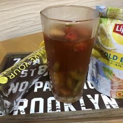 アウトレット リプトン LOHACO限定デザインタンブラー+レシピブック(コップ、グラス)を使ったクチコミ「フルーツインティー。 リプトン コールド…」