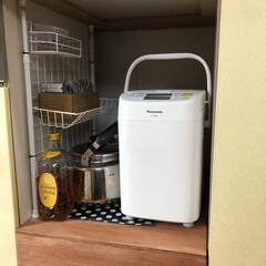 1斤タイプ ホームベーカリー SD-SB1 | パナソニック(ホームベーカリー)を使ったクチコミ「食洗機を取り外した所にちょっとした収納に…」