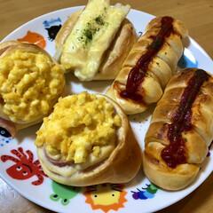 パナソニック ホームベーカリー 1斤タイプ ホワイト SD-MB1-W | パナソニック(その他キッチン、台所用品)を使ったクチコミ「今朝はやる気スイッチON👍 パンが焼き上…」