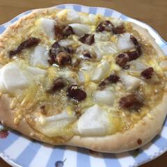 パナソニック ホームベーカリー 1斤タイプ ホワイト SD-MB1-W   パナソニック(その他キッチン、台所用品)を使ったクチコミ「ふーこさんの餅ピザが食べたくて〜。 ピザ…」(1枚目)