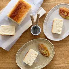 チーズケーキ/チーズテリーヌ/手作りチーズケーキ/手作りスイーツ/手作りおやつ/手作りお菓子/... チーズテリーヌ作りました。  無糖ヨーグ…