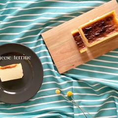 暮らしを楽しむ/暮らし/スイーツ好き/スイーツ/お菓子作り/スイーツ手作り/... チーズテリーヌ作りました🧀  バスクみた…