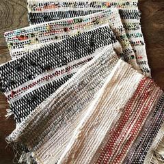 着物/ランチョンマット/さをり織り/裂き織り/機織り/ハンドメイド/... 機織りでランチョンマット 裂き織りです。…