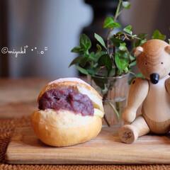 木のおもちゃ/雑貨/カイボイスン/一眼レフのある生活/クマ/あんバター/... 大好きなあんバターサンド❤️