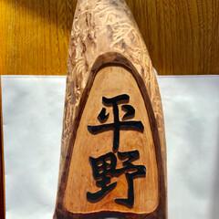 オブジェ/木彫り/表札/雑貨 表札の作成依頼があり過去にこさえたものです(3枚目)