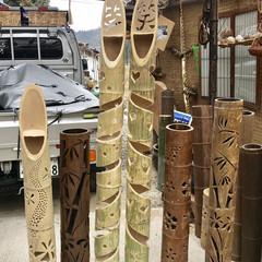 リメイク/竹細工/オブジェ 門松🎍に使われていた孟宗竹や牡蠣いかだに…(1枚目)