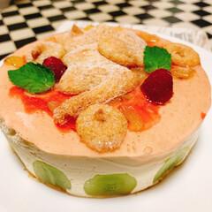 ケーキ/美味しい/パティシエお勉強中/パティシエ/スィーツ/スィーツ男子/... 息子s'スィーツ🍰💗 ムースケーキ( ¤…