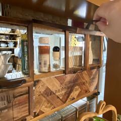 キッチン収納/ラブリコ/調味料ラックDIY/DIY/棚/キッチン/... キッチン側とダイニング側の両方から調味料…(3枚目)