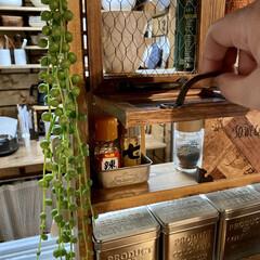 キッチン収納/ラブリコ/調味料ラックDIY/DIY/棚/キッチン/... キッチン側とダイニング側の両方から調味料…(4枚目)