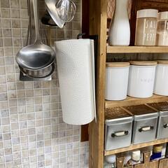 キッチン収納/ラブリコ/調味料ラックDIY/DIY/棚/キッチン/... キッチン側とダイニング側の両方から調味料…(8枚目)