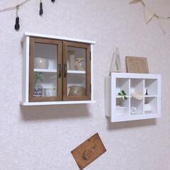 サリュ/キッチン/キッチン雑貨/雑貨/100均/セリア/... おはようございます☀  キッチンの壁飾り…
