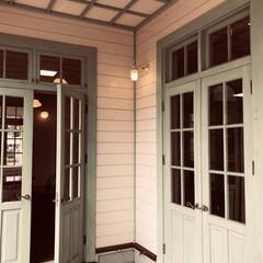 リノベーション/窓/建具/DIY/インテリア こういう背の高いドア窓をベランダに作りた…
