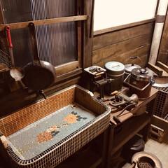 キッチンシンク/昭和レトロ/レトロインテリア/レトロ/キッチン 昔の台所を再現した部屋です。  タイル張…