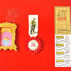 クラフト/DIY材料インテリア雑貨/DIY材料/感謝状/ロゼット/DIY夫婦/... 夫に贈る感謝状と、勲章、DIY材料回数券…