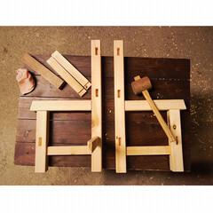 子供用椅子/椅子 /家具/DIY  造形好きの夫が小さな「子ども用イス」を…