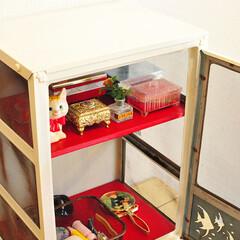 棚/リメイク/DIY  【2枚目】  1枚目の色塗りリメイク棚…